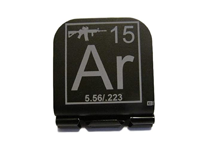 Ar 15 Periodic Table Of Elements Tile Laser Etched Hat Clip Brim It