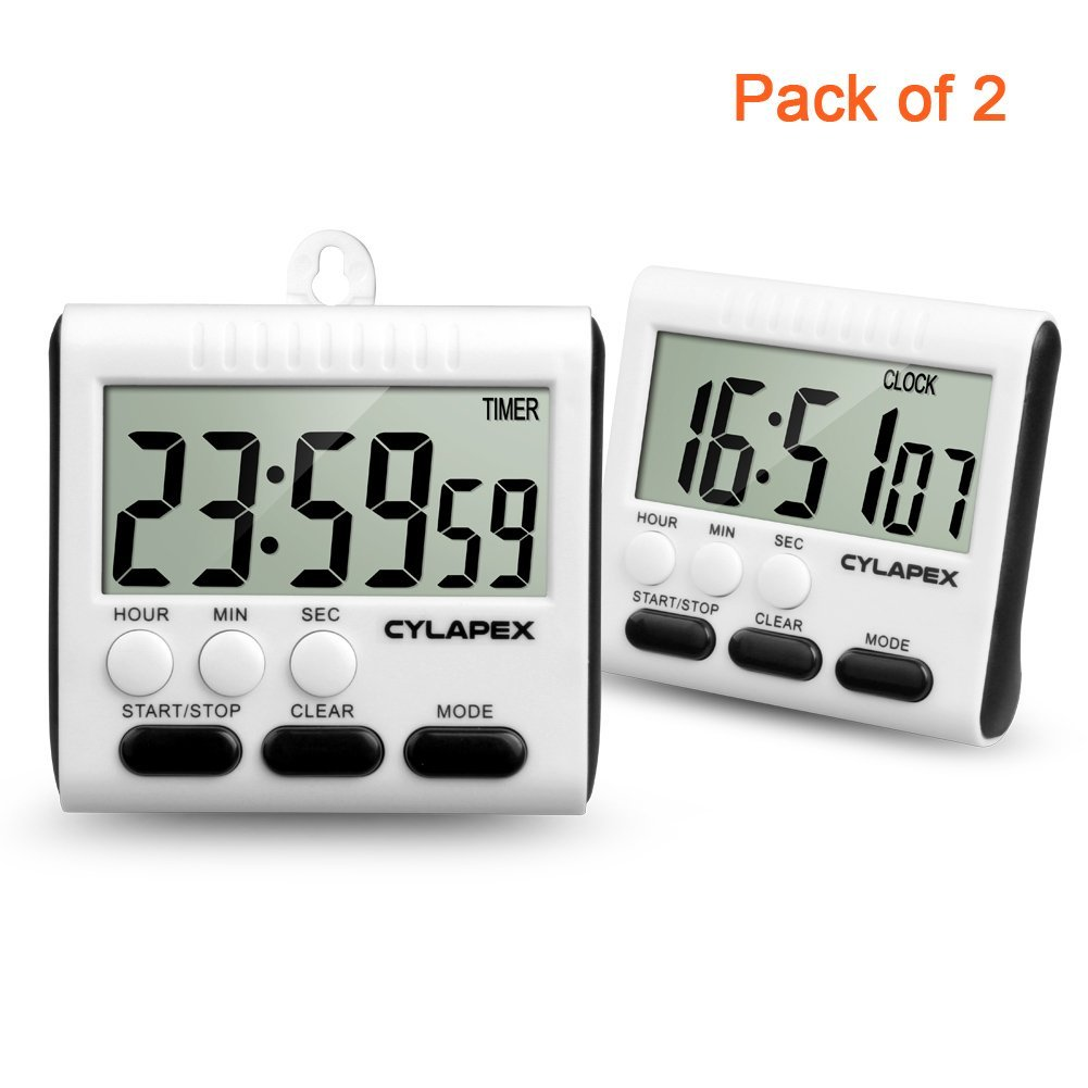 Amazon.com: CYLAPEX Magnetic Digital Kitchen Timer with Large ...
