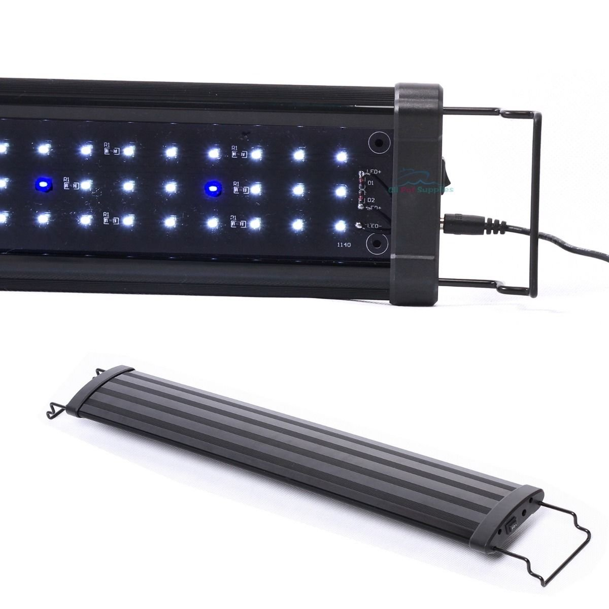 30''- 42'' LED Light 108 pcs HIGH LUMEN Aquarium Fish Tank White Blue Extendable by RIB