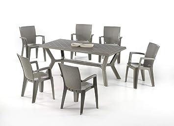 newgarden Juego de jardín Mesa de Resina carribe y sillas ...