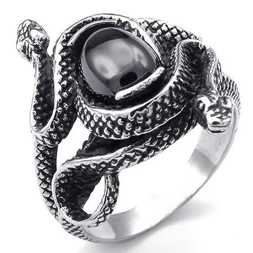 acquista per genuino preordinare scegli il più recente KnSam Anello Uomo Acciaio Inox Serpente: Amazon.it: Gioielli