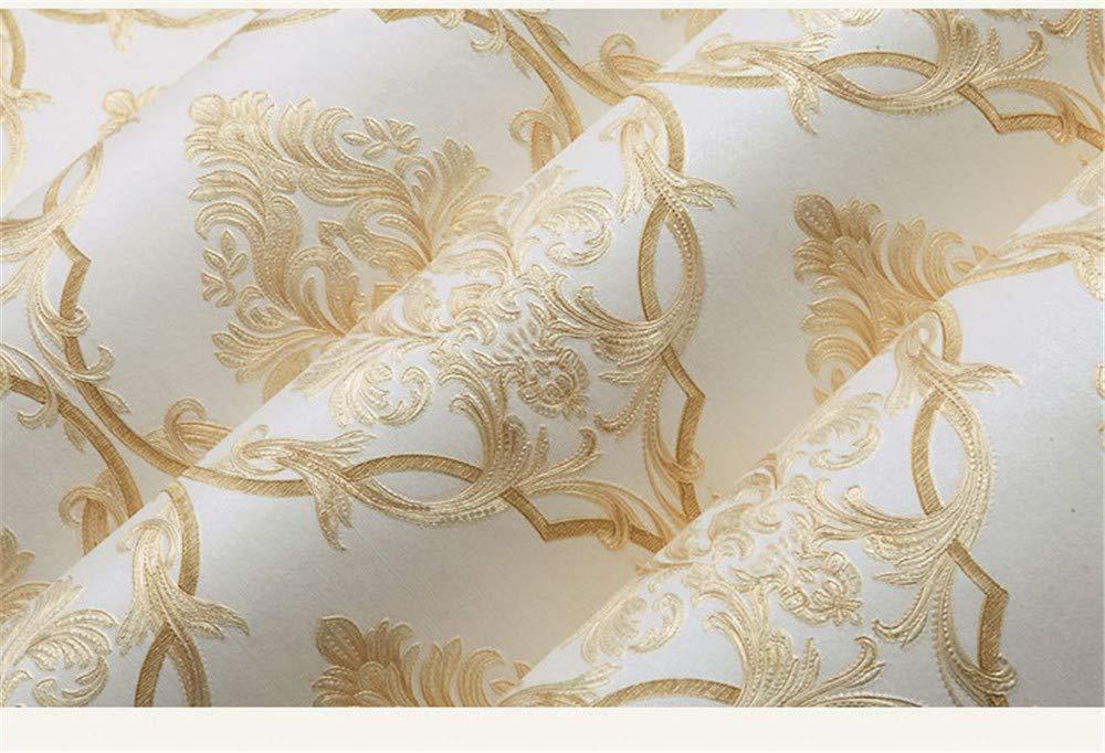 21in X 394in Europeo 3D tridimensionale in rilievo Damasco carta da parati camera da letto soggiorno parete non tessuto blu,53 X 1000CM