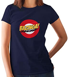 79af1223daa Raw and Real Women's Cotton Regular Fit Bazinga Big Bang Theory Sheldon  Cooper Printed T-