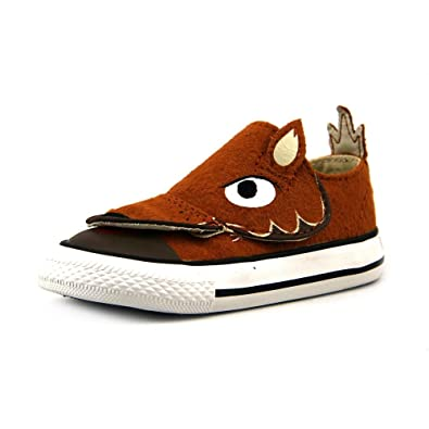 Converse Kids Unisex Chuck Taylor All Star Creatures Ox (Infant/Toddler)  Auburn 4