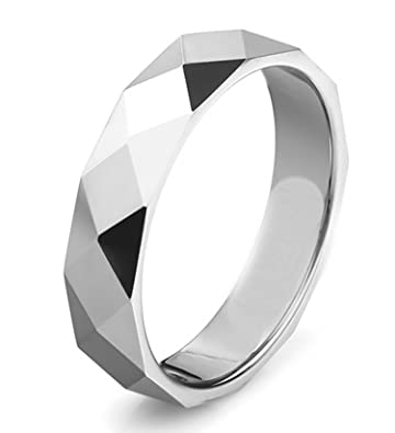 Epinki Tungsteno Hombre Anillo Diamante Forma Patrón Anillos de ...