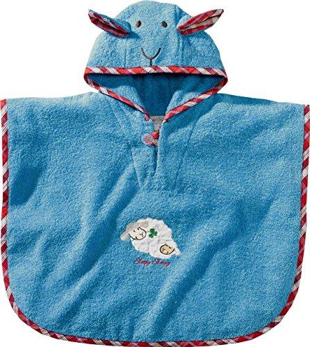 Morgenstern, Bio Frottee - Badeponcho, 1-3 Jahre (one size), Farbe blau, Sleepy Sheepy, 100 % organische Baumwolle,
