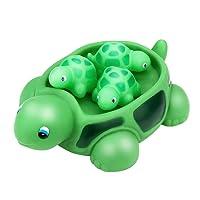 Ackful🍁Shrilling Rubber Cute Sea Turtle Family Bathtub Pals Floating Bath Tub Toy for Kids
