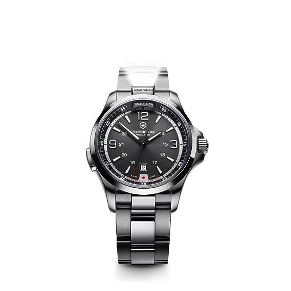 Victorinox Swiss Army 241569 - Reloj analógico de cuarzo para hombre con correa de acero inoxidable, color plateado: Amazon.es: Relojes