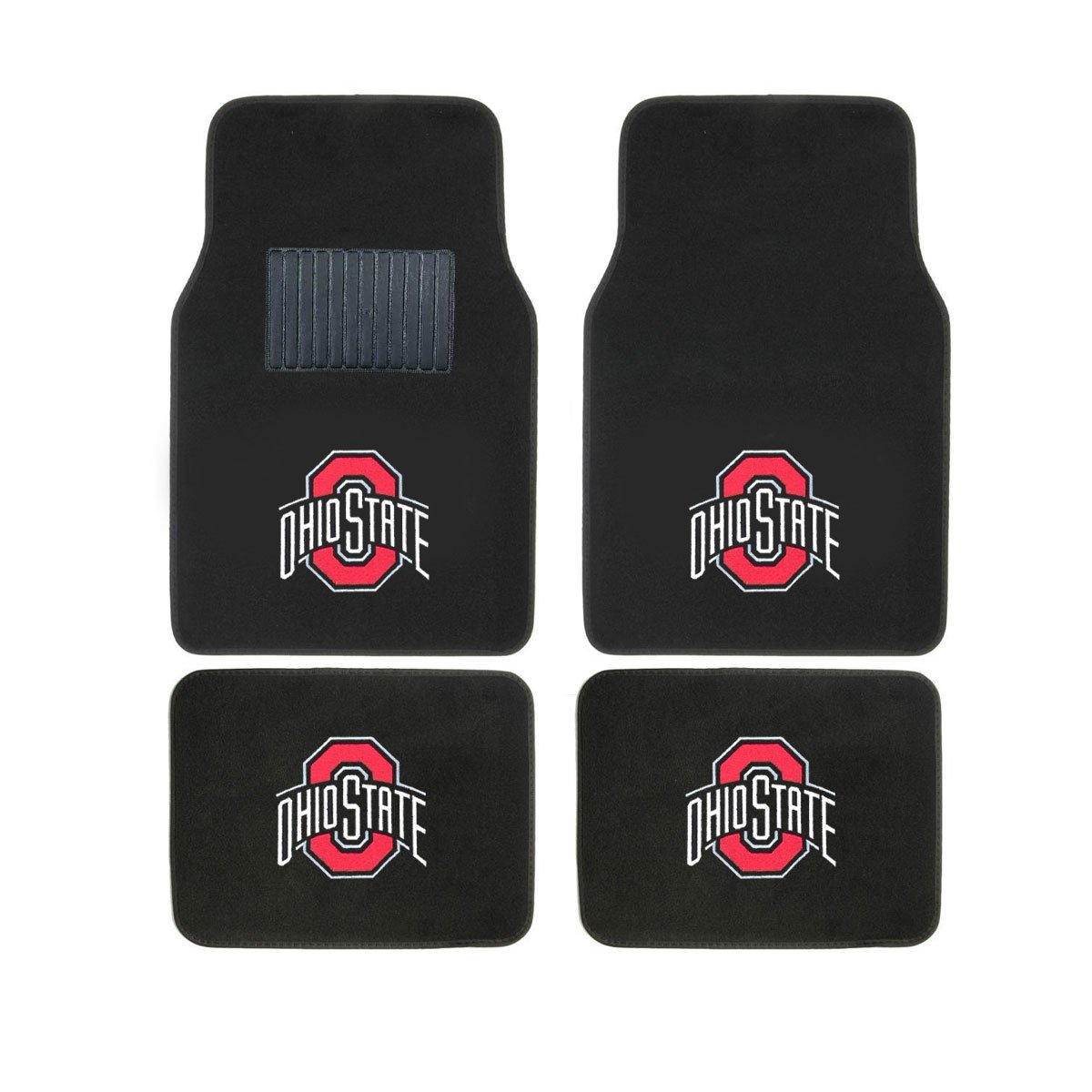 Collegiate OHIO STATE New Carpet Type Floor Mat Liner. Wow! Ohio State Logo On All 4 Mats Sports Licensing Solutions