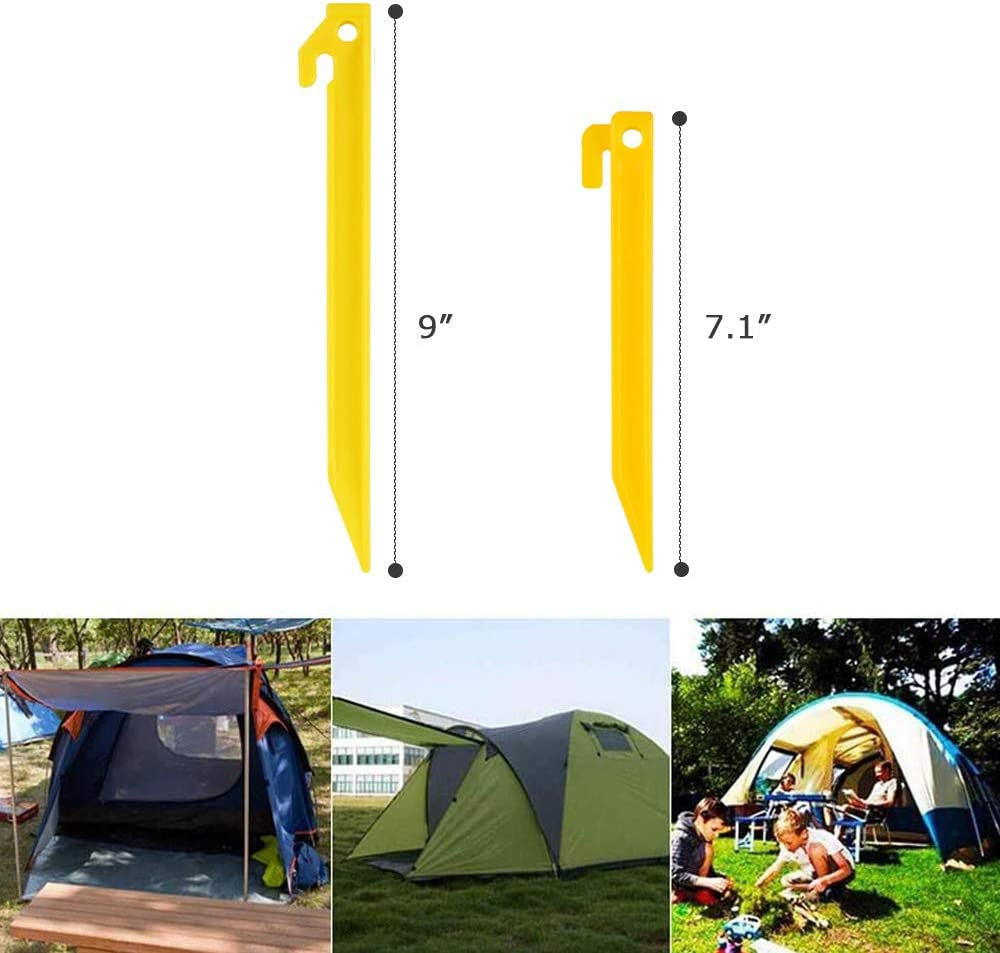 OMUKY Plastic Tent Pegs Durable Spike Hook Awning Camping Caravan Pegs Tent Stakes Accessory 10pcs