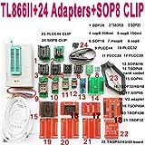 SETCTOP TL866II Plus usb programmer +24 adapter socket+SOP8 clip 1.8V nand flash 24 93 25 mcu Bios EPROM AVR eprom