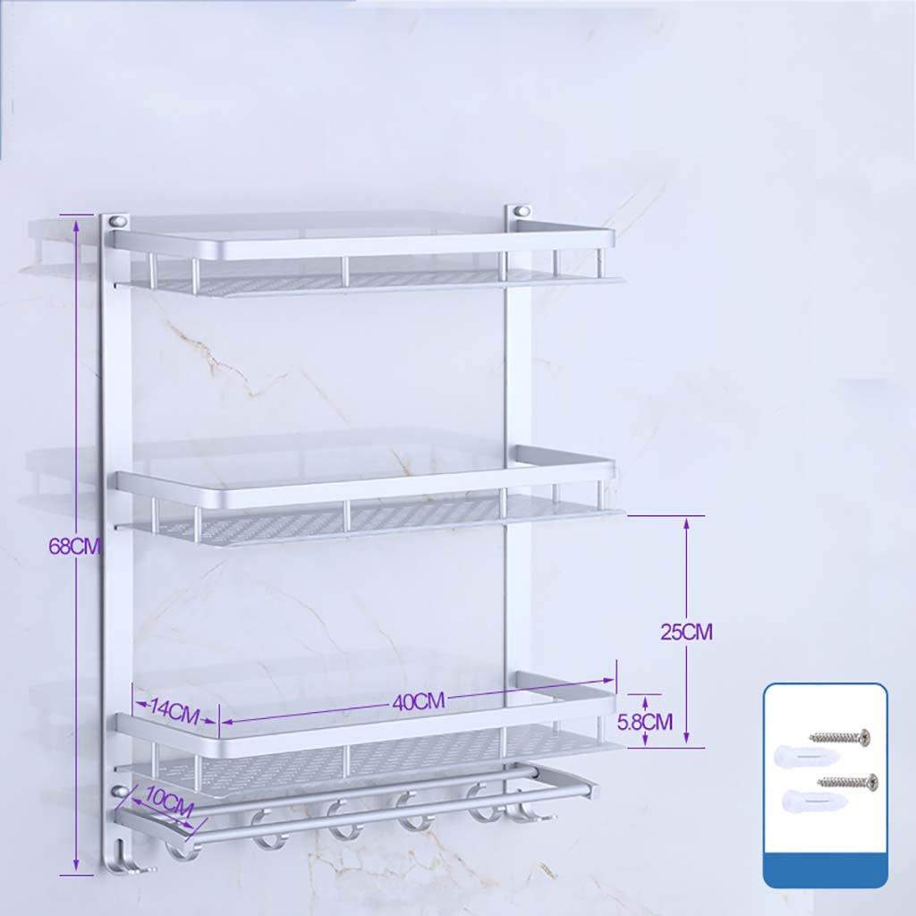 タオル掛け タオルラックスペースアルミ製のバスルーム棚3階ダブルレバーミシン(40cm、50cm、60cm) タオルスタンド (サイズ さいず : 50 cm 50 cm) B07DWWZMZK 50 cm 50 cm 50 cm 50 cm
