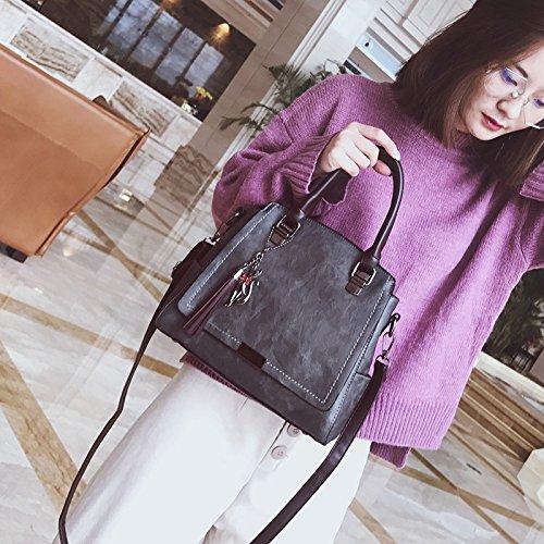 Bolso gray gris nuevo moda XWAN Tassel Bolsos coreana de Bolso 4qwxzd