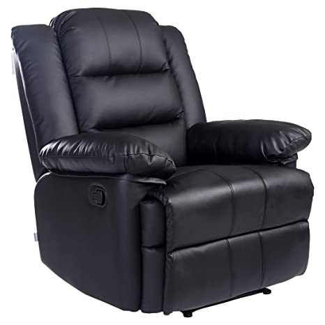 Incredible Loxley Bonded Leather Recliner Armchair Sofa Home Lounge Chair Reclining Gaming Black Ocoug Best Dining Table And Chair Ideas Images Ocougorg