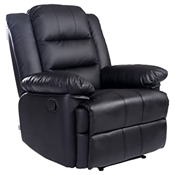 Loxley Bonded Leather Recliner Armchair Sofa Home Lounge Chair