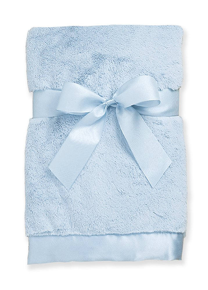 Bearington Baby Large Silky Soft Crib Blanket (Blue) 36
