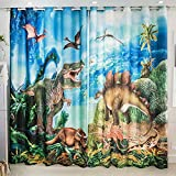 Wapel 3D Jurassic Dinosaur Cartoon Children'S Room, Theme, Wall, Bedroom Curtain 240X320CM