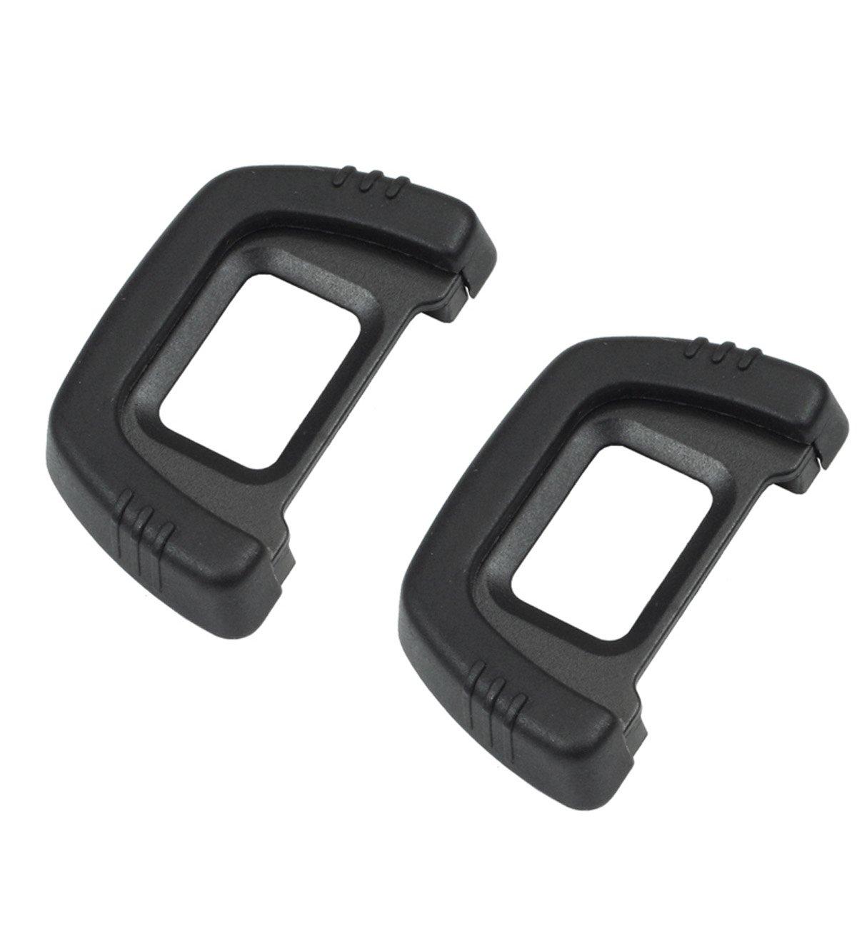 DK-23 Rubber Eyecup Eyepiece Viewfinder for Nikon D7100 D7200 D300 D300s DSLR Camera 2 Pack CEARI MicroFiber Clean Cloth