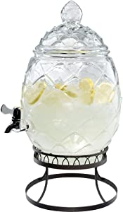 Artland Diamond Glass Beverage Server, 2.5 Gallon