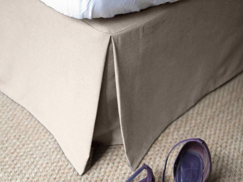 Delamaison Alacasa - Funda para somier, algodón, Beige, 190 x 140 cm