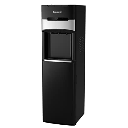 Honeywell HWBL1023 41-Inch Freestanding Bottom Loading Water Cooler Dispenser with Hot, Room and Cold Temperatures with Superior Water Pump (Black) ...