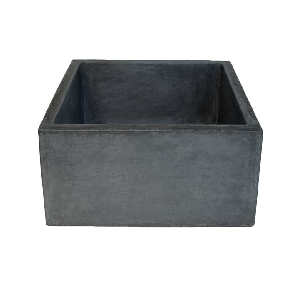 Native Trails NSB1515-S Ventana Native Stone Under Under mount Bar/Prep Sink, Slate