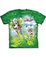 The Mountain Cotton Green Irish Fairy Kitten Novelty Adult T-Shirt (Green)