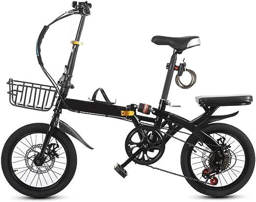 XYSQ Una Sola Velocidad Bicicleta Plegable Bicicletas 16/20 ...