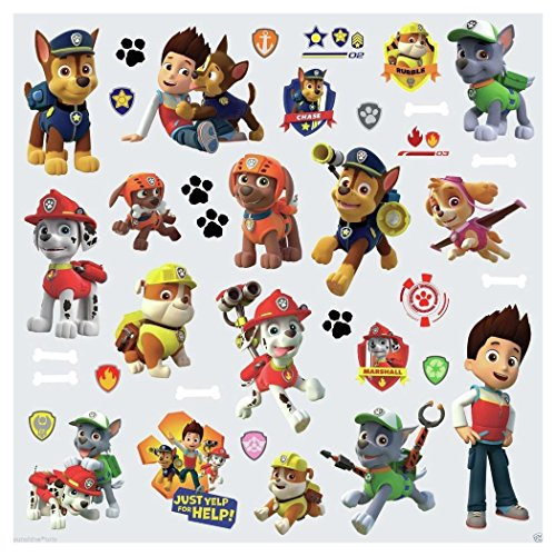 Paw Figures Wall Decals Zuma Rocky Skye Chase Marshall Rubble Stickers from Unknown