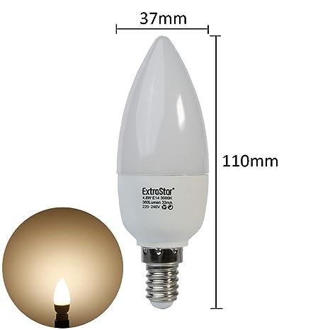 2 x extra Star® Bombillas LED E14 (5 W equivalentes a 40 W)