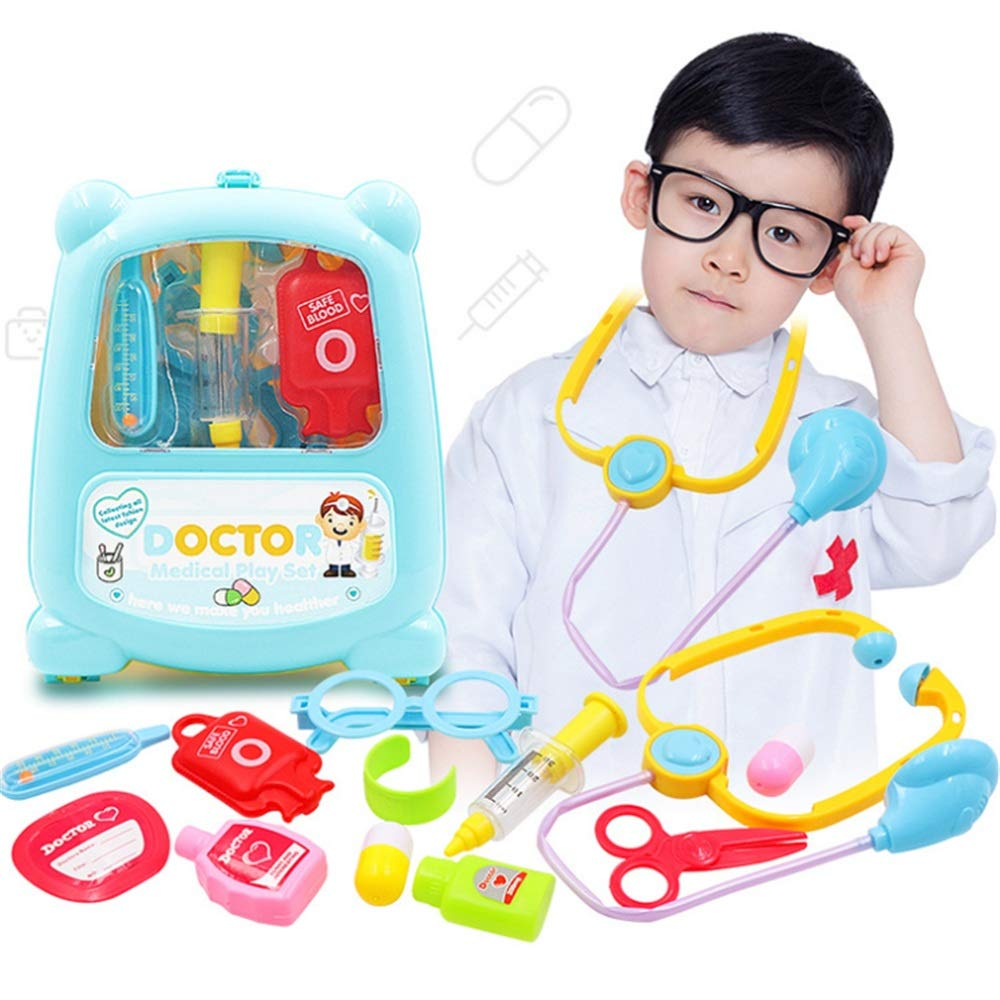 Toys Game Set for Kids Doctor Kit Medical Case Nurse Toys Role Play Doctors Toy Set Toys Cosplay Girls Boys Toy For Baby Kids Early Age Development Educational Pretend Play Assortment Set With Carry C