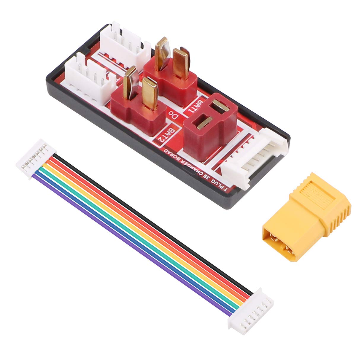 FancyWhoop T Plug Parallel Charging Board with 6S Balance Cable and XT60 Male to Deans T Female Connector RC Charger Adapter Plug for 3S LiPo Batteries Charging Balance Charger