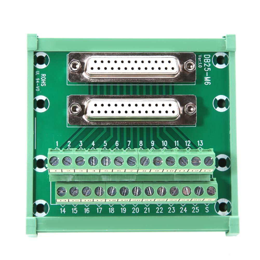 DB25 M6 Conseil Breakout avec double prise Bornier DSUB 25 broches Connecteurs
