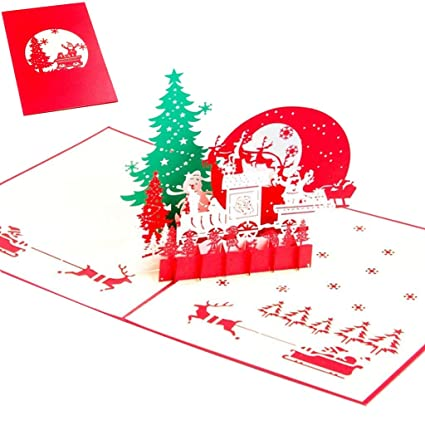 ronri pop up greeting card 3d card christmas card new year card