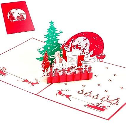 ronri pop up greeting card 3d card christmas card new year card