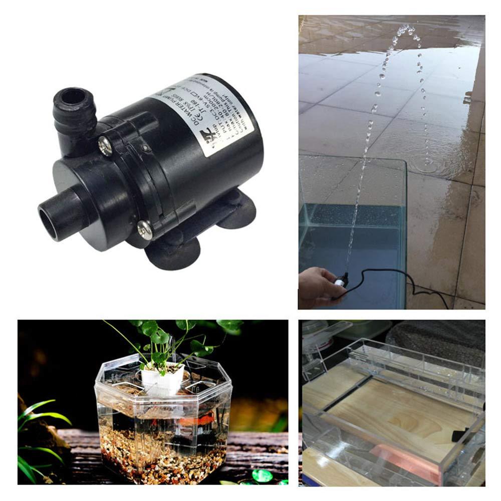 3P Cable de veloc/ímetro H Max 2.3M Mini sin escobillas Bombeo sumergible para acuario Fuente de peces Jard/ín Casa Agua Hidropon/ía W Bomba de agua el/éctrica de 280L