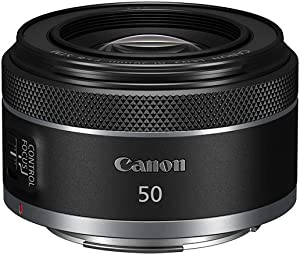 Canon RF50mm F1.8 STM for Canon Full Frame Mirrorless RF Mount Cameras [EOS R, EOS RP, EOS R5, EOS R6](4514C002)