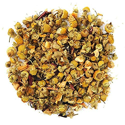 Positively Tea Company, Organic Lemon Chamomile, Herbal Tea, Loose Leaf, USDA Organic, 4 Ounce Bag