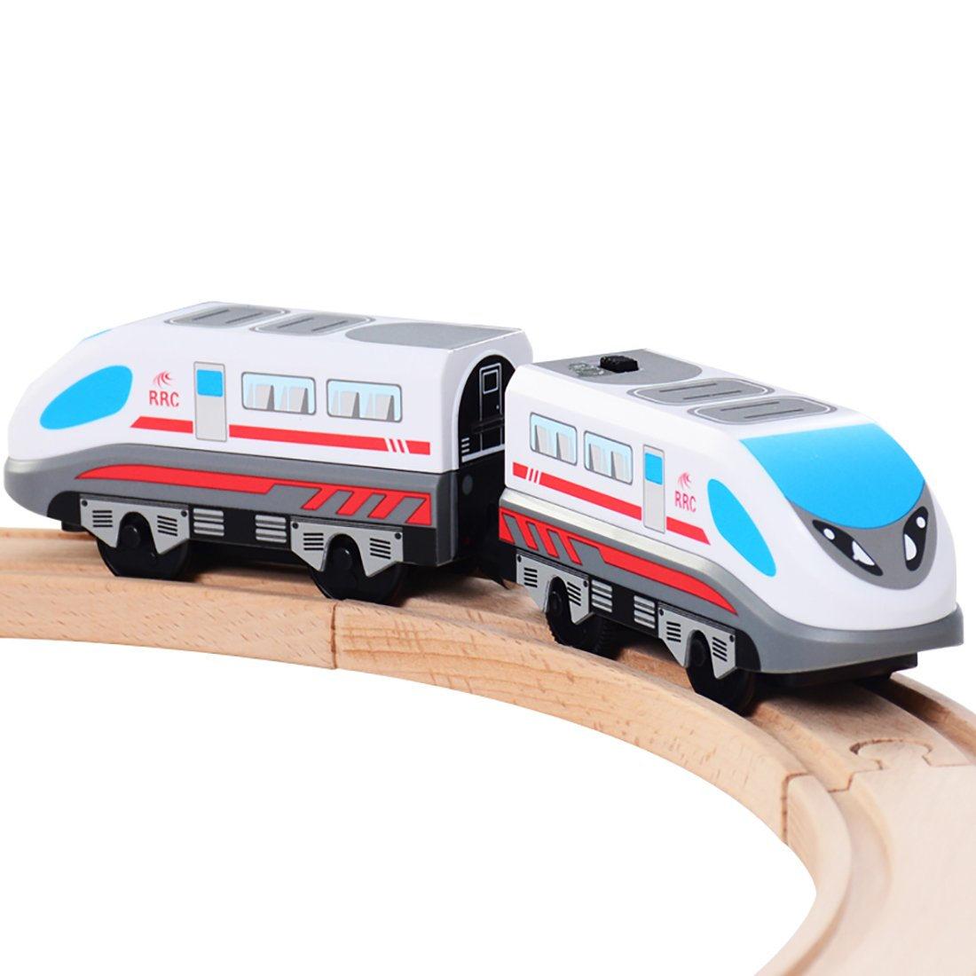 KAJA Engine Bullet Train Toys Magnetic Battery Train Car for Toddlers Compatible with Thomas Brio Tracks