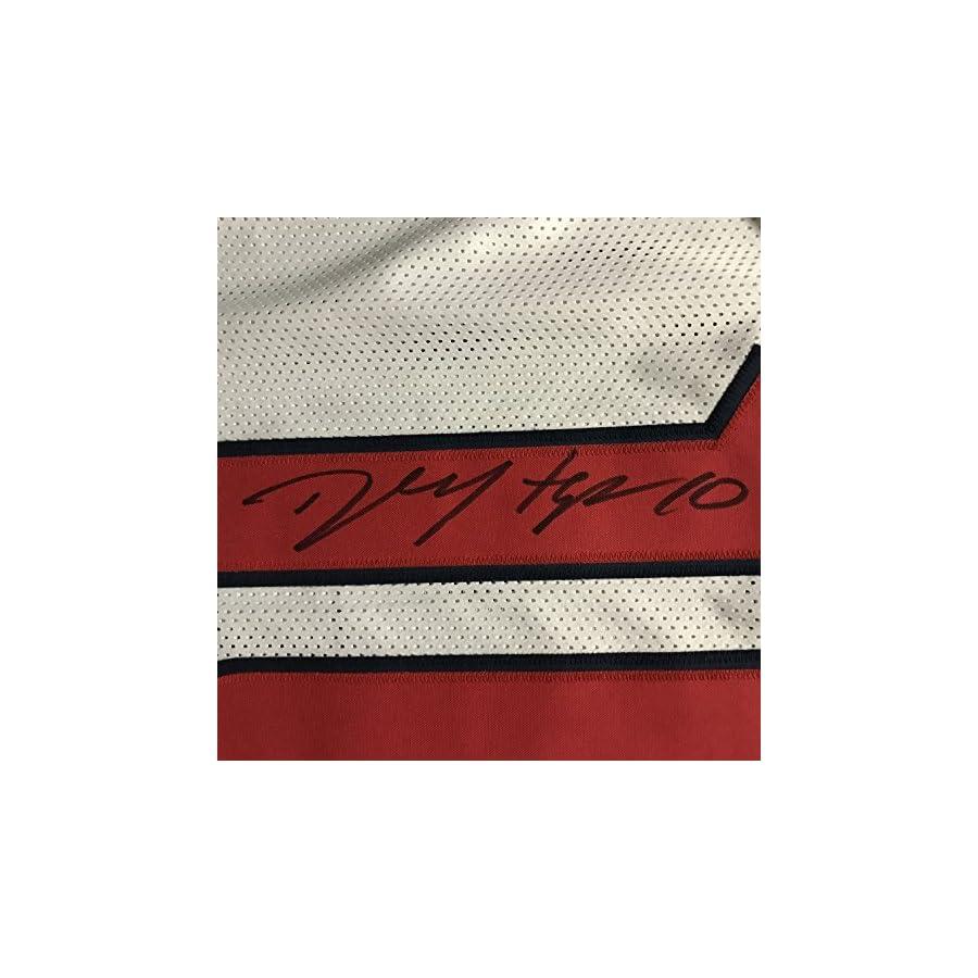 Autographed/Signed DeAndre Hopkins Houston White Football Jersey JSA COA