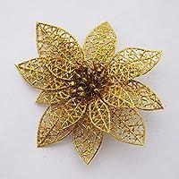 KICODE TOPMountain 10 peças de flores vazadas artificiais com glitter colorido para festa de casamento, enfeites de…