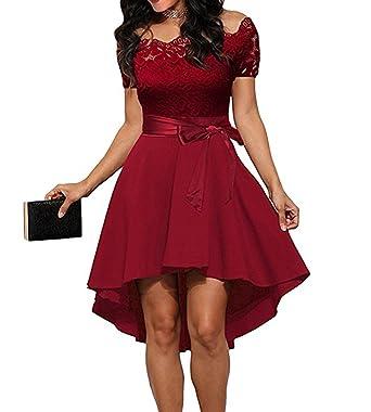 Damen Cocktailkleid Elegantes festliches Abendkleid Spitzenkleid ...