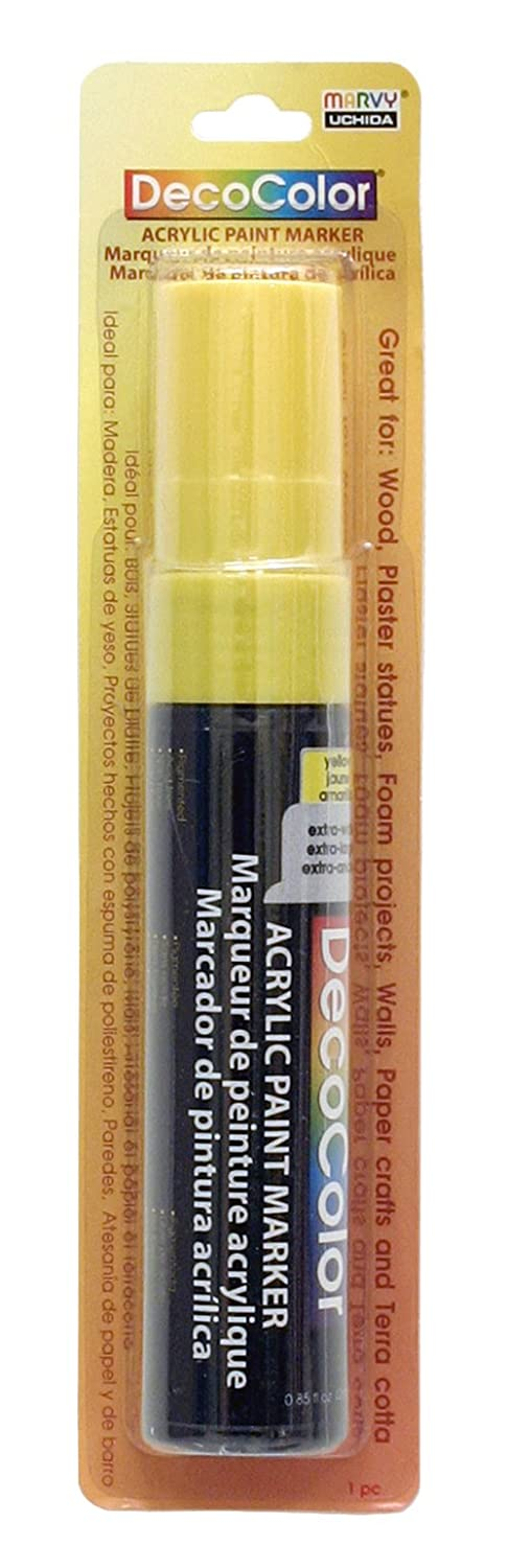 Amazon.com: Uchida of America 15 MM Decocolor Acrylic Marker, Yellow: Arts, Crafts & Sewing