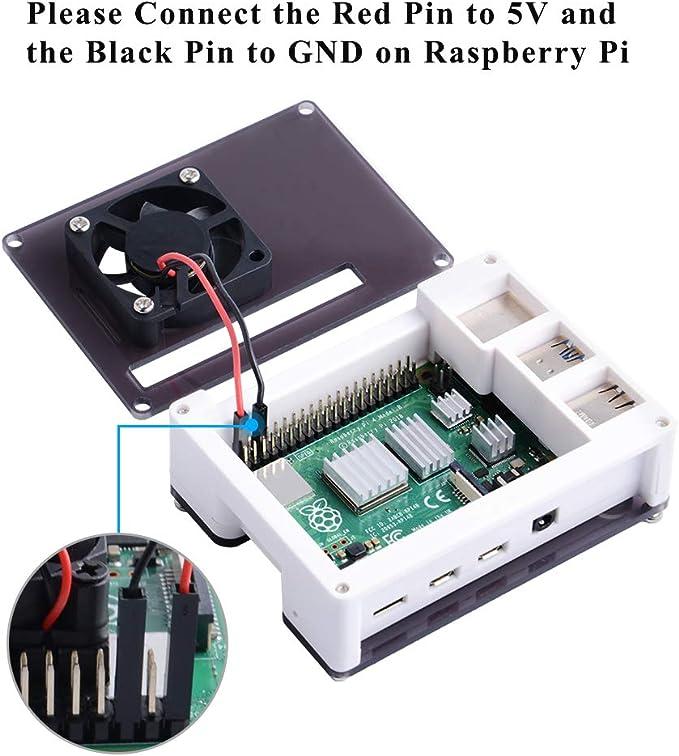 GeeekPi Acrílico ABS Caja para Raspberry Pi 4 Modelo B, Raspberry ...