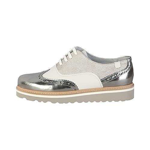 B8555 scarpa inglese donna TRUSSARDI JEANS scarpe nero shoe woman [37] s2N2G