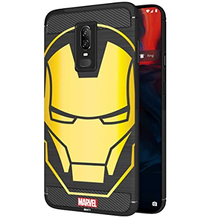 promo code 2545a 1393f MTT Marvel Iron Man Officially Licensed Tough Armor Back Case Cover for  OnePlus 6 (Design 54)