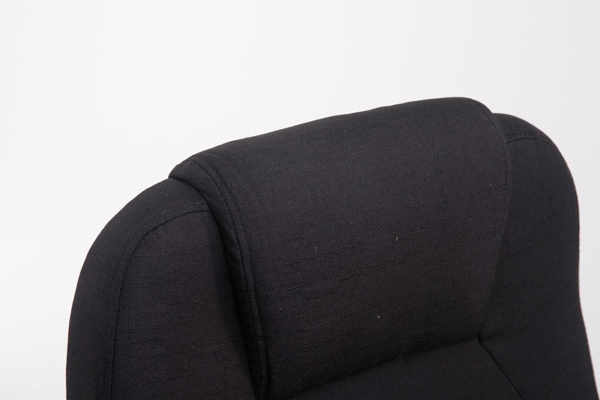 CLP Silla de Oficina XXL APOLL Tapizado en Tela I Silla Racing Regulable en Altura I Silla de Ordenador con Ruedas I Silla de Escritorio Color: Negro