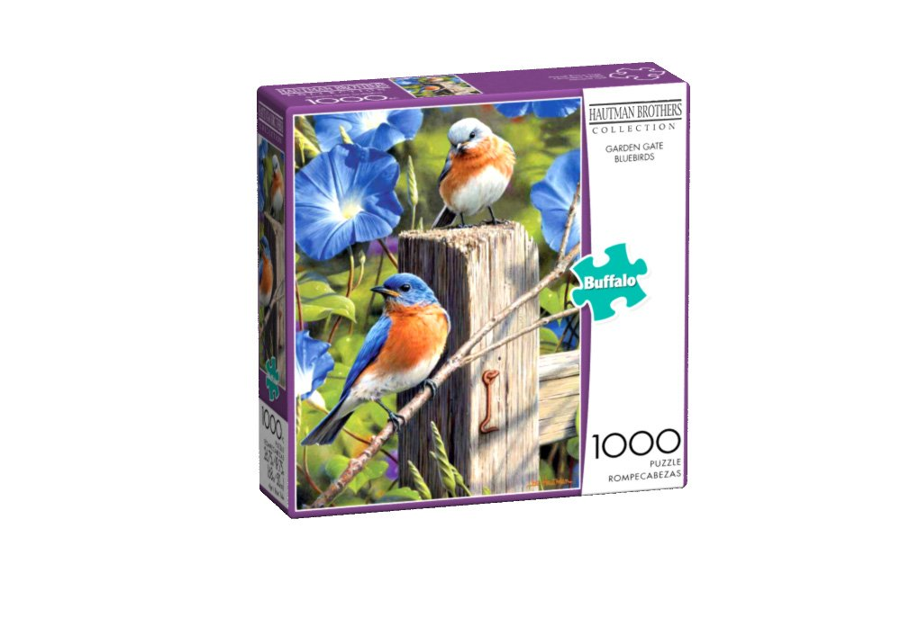 1000pc Jigsaw Puzzle 11164 Buffalo Games Hautman Brothers Garden Gate Bluebirds