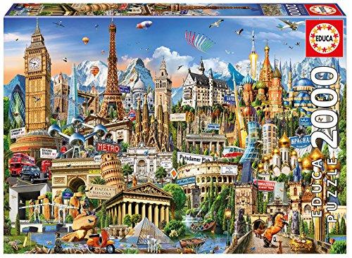 Educa Borras - Genuine Puzzles, Puzzle 2 000 piezas, Simbolos de Europa (17697)