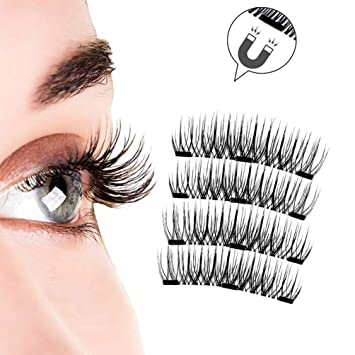 afc7d7af0b6 SportsWell 3D Magnetic Eyelashes Natural Full Eye Magnetic Lashes Ultra Thin  Reusable & Handmade 3 Magnet